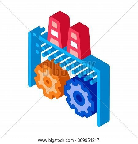 Technical Settings Of Thermal Power Plant Icon Vector. Isometric Technical Settings Of Thermal Power