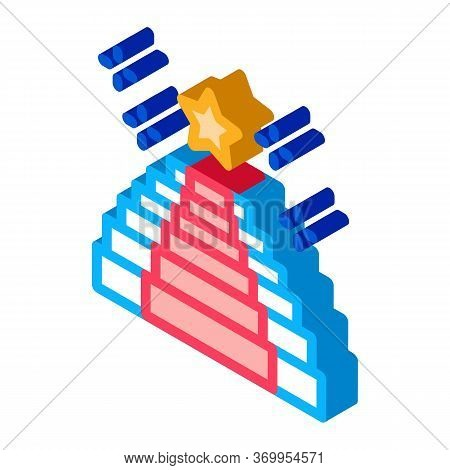 Seat Place Event Icon Vector. Isometric Seat Place Event Sign. Color Isolated Symbol Illustration