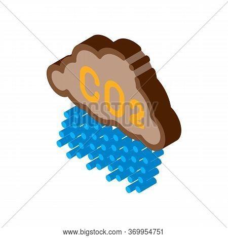 Acid Rain Icon Vector. Isometric Acid Rain Sign. Color Isolated Symbol Illustration