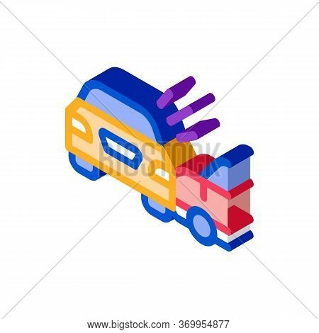 Collision Of Two Cars Icon Vector. Isometric Collision Of Two Cars Sign. Color Isolated Symbol Illus