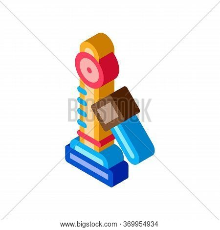 Power Attraction To Measure Strength Icon Vector. Isometric Power Attraction To Measure Strength Sig