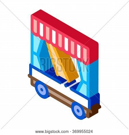 Mobile Puppet Theater Icon Vector. Isometric Mobile Puppet Theater Sign. Color Isolated Symbol Illus