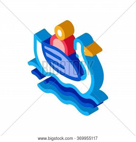 Duck Watching In Park Icon Vector. Isometric Duck Watching In Park Sign. Color Isolated Symbol Illus