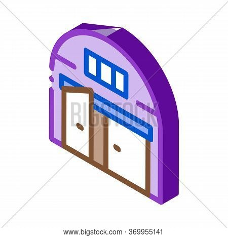 Car Garage Open Icon Vector. Isometric Car Garage Open Sign. Color Isolated Symbol Illustration