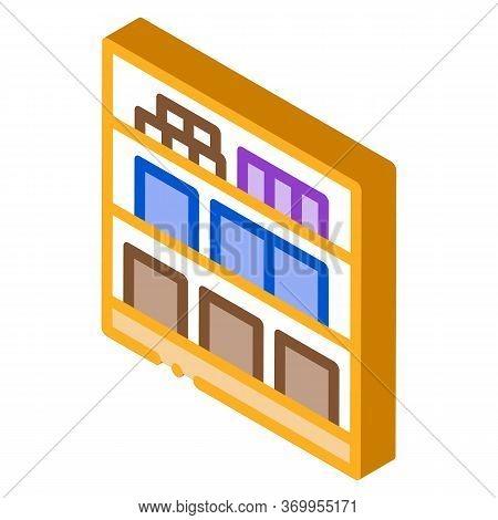 Basement Cellar Icon Vector. Isometric Basement Cellar Sign. Color Isolated Symbol Illustration