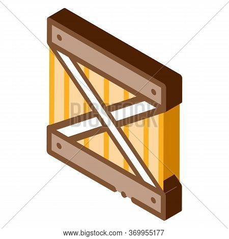 Wood Ban Icon Vector. Isometric Wood Ban Sign. Color Isolated Symbol Illustration