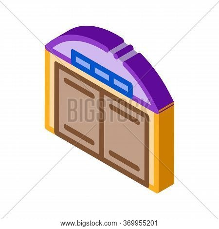 Car Garage Icon Vector. Isometric Car Garage Sign. Color Isolated Symbol Illustration