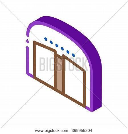 Opening Car Salon Icon Vector. Isometric Opening Car Salon Sign. Color Isolated Symbol Illustration