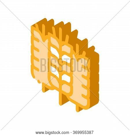 Spikelets Of Wheat Icon Vector. Isometric Spikelets Of Wheat Sign. Color Isolated Symbol Illustratio