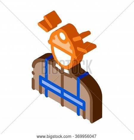 Miner Worker Icon Vector. Isometric Miner Worker Sign. Color Isolated Symbol Illustration