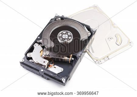 Repair And Maintenance Of Hdd - Hard Disk Drive. Hard Disk Repair Concept, Computer Industry. Disass