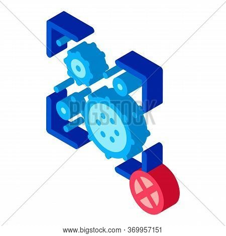 Virus Detection Icon Vector. Isometric Virus Detection Sign. Color Isolated Symbol Illustration