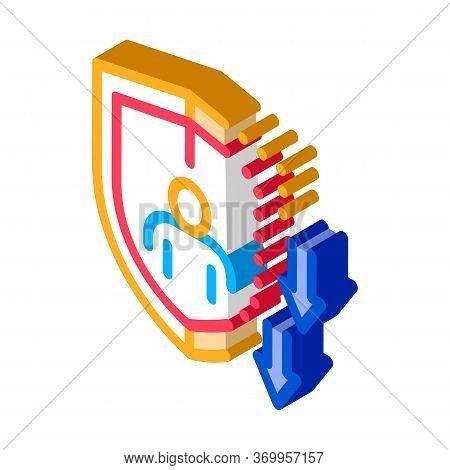 Impaired Immunity Icon Vector. Isometric Impaired Immunity Sign. Color Isolated Symbol Illustration