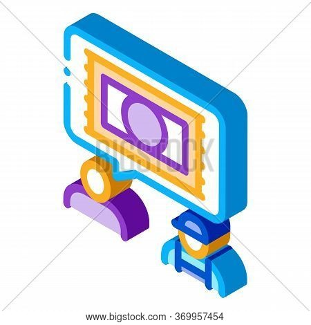 Request For Carpet Cleaning Icon Vector. Isometric Request For Carpet Cleaning Sign. Color Isolated