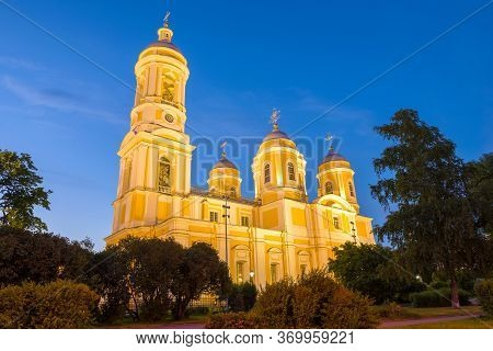 Cathedral Of The Holy Equal-to-the-apostles Prince Vladimir In The Night Illumination On A June Even