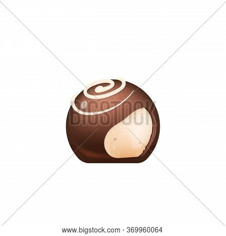 Cut Chocolate Candy, Sugar Confectionery Realistic Vector Illustration. Sweet Cocoa Dessert, Appetiz