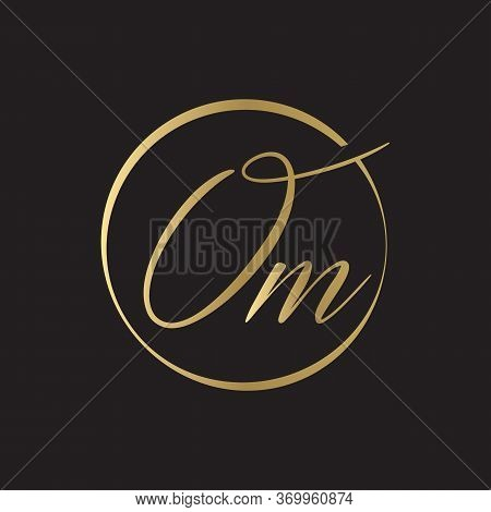Initial Simple Letter Om Logo Design Vector Template. Abstract Minimal Om Letter Logo Design
