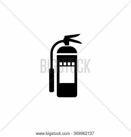 Fire Extinguisher Glyph Icon Vector On White Background. Flat Vector Fire Extinguisher Icon Symbol S