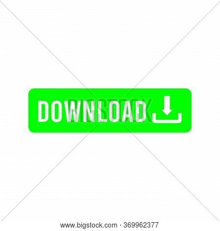 A Green Download Button On White Background, A Green Download Button For Web Design, A Green Downloa