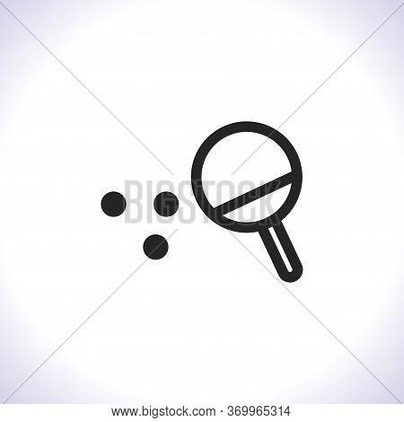 Ping Pong Vector Icon . Lorem Ipsum Illustration Design