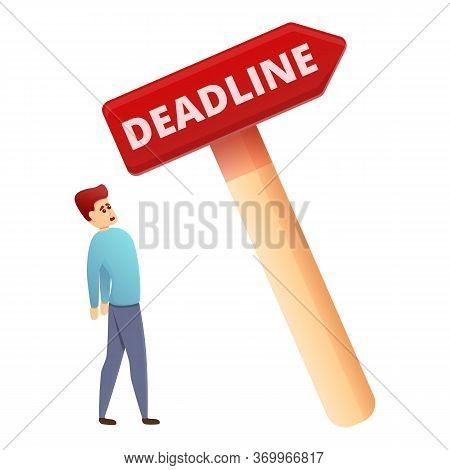 Indicator Deadline Icon. Cartoon Of Indicator Deadline Vector Icon For Web Design Isolated On White