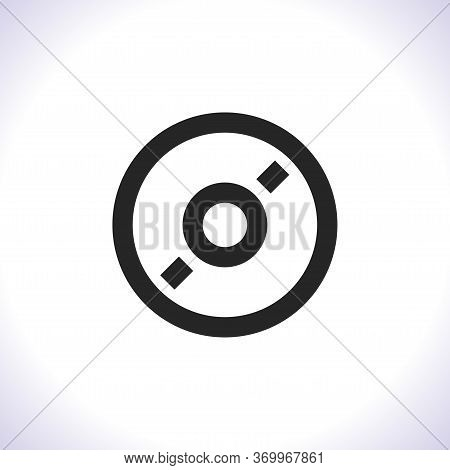 Cd Or Dvd Vector Icon . Lorem Ipsum Illustration Design