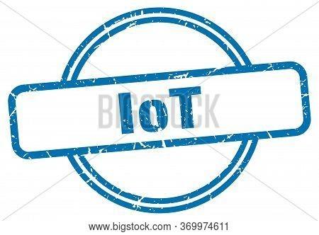 Iot Stamp. Iot Round Vintage Grunge Sign. Iot