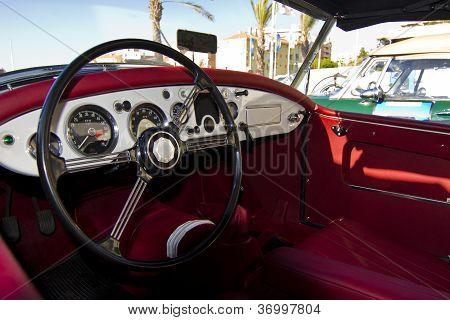 Vintage Car Detail Interior