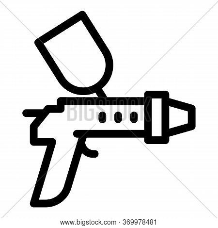 Paint Gun Icon. Outline Paint Gun Vector Icon For Web Design Isolated On White Background