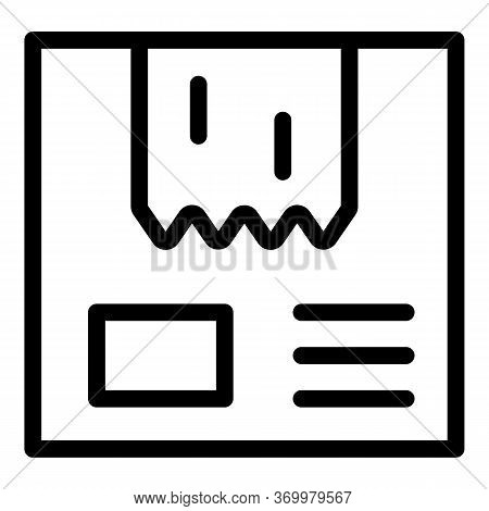 Adhesive Tape On The Package Icon. Outline Adhesive Tape On The Package Vector Icon For Web Design I