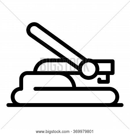 Manual Hole Punch Icon. Outline Manual Hole Punch Vector Icon For Web Design Isolated On White Backg