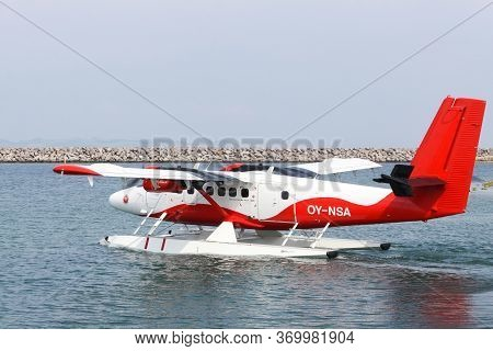 Aarhus, Denmark - Jun 15, 2016: Nordic Seaplanes Is A Danish Airline That Has Been Operating A Route