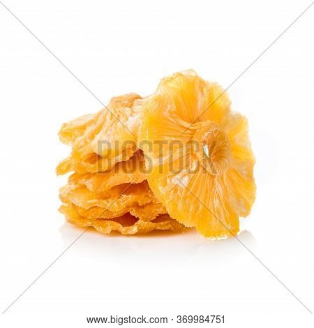 Candide Fruit Pineapple Slice, Dried Pineapple Round Slice Isolated On White Background