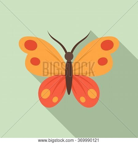 Botanical Butterfly Icon. Flat Illustration Of Botanical Butterfly Vector Icon For Web Design