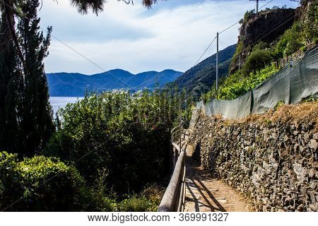 View Of The Hiking Trail From Corniglia To Vernazza, Cinque Terre, Italy