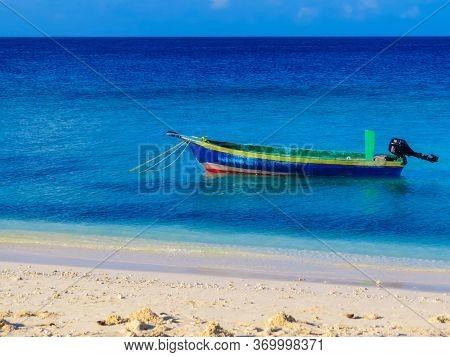 Fisherman Boat On The Atoll Of Ukulhas, Maldives