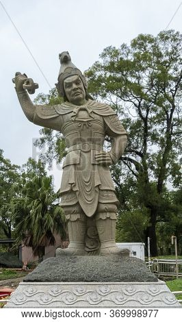 Statue Of General Vikarala, One Of The Twelve Divine Generals, On Lantau Island, Hong Kong