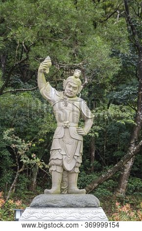 Statue Of General Sandira, One Of The Twelve Divine Generals, On Lantau Island, Hong Kong
