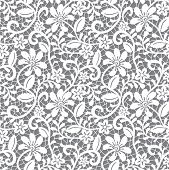 Lace background. Seamless floral pattern. Vector illustration poster