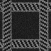 a 2d illustration of a crosswalk lines on pavement. poster