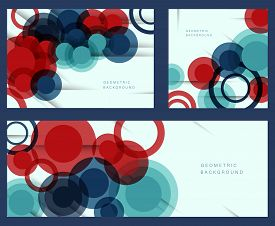 Set of bright abstract backgrounds. Colorful Abstract Background. Abstract Background.Abstract circle geometric pattern design and background. business abstract background - vector illustration. Abstract Background.