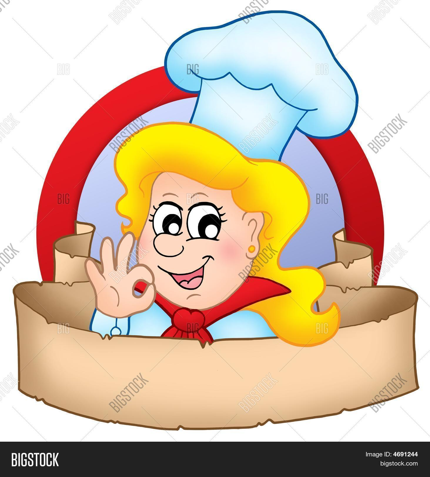 Cartoon Chef Woman Image Photo Free Trial Bigstock