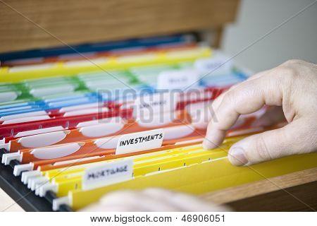 Financial Documents In Folders