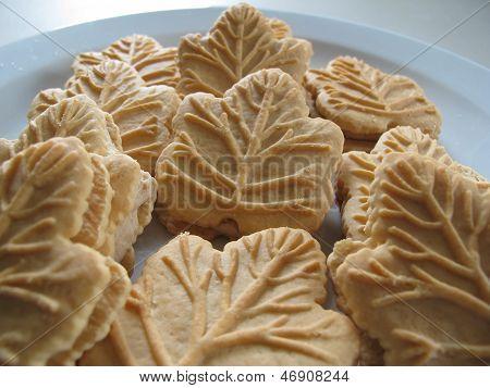 Maple cookies on plate