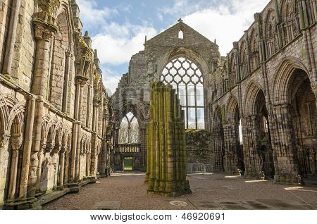 Holyrood Abbey In Edinburgh, Scotland