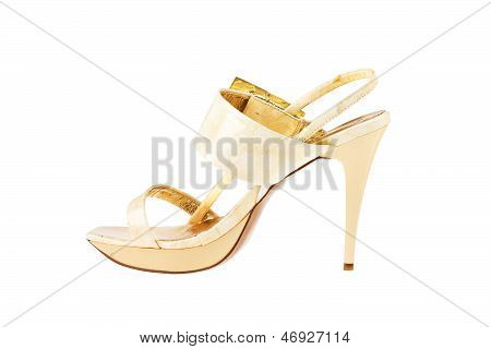 Women's Shoes Isolated On White Background