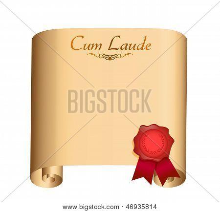Cum Laude College Graduation Diploma