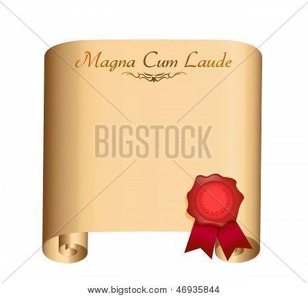 Magna Cum Laude College Graduation Diploma