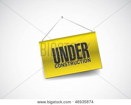 Under Construction Hanging Banner