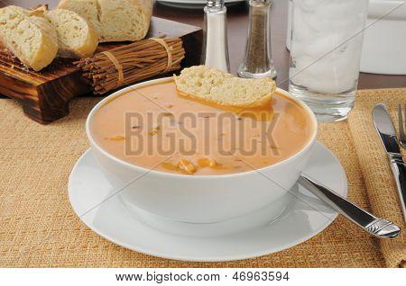 Creamy Chicken Gouda Bisque